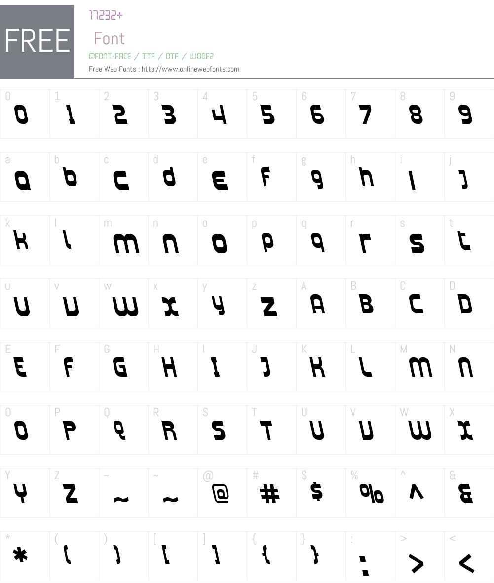 SF Plasmatica Rev Font Screenshots
