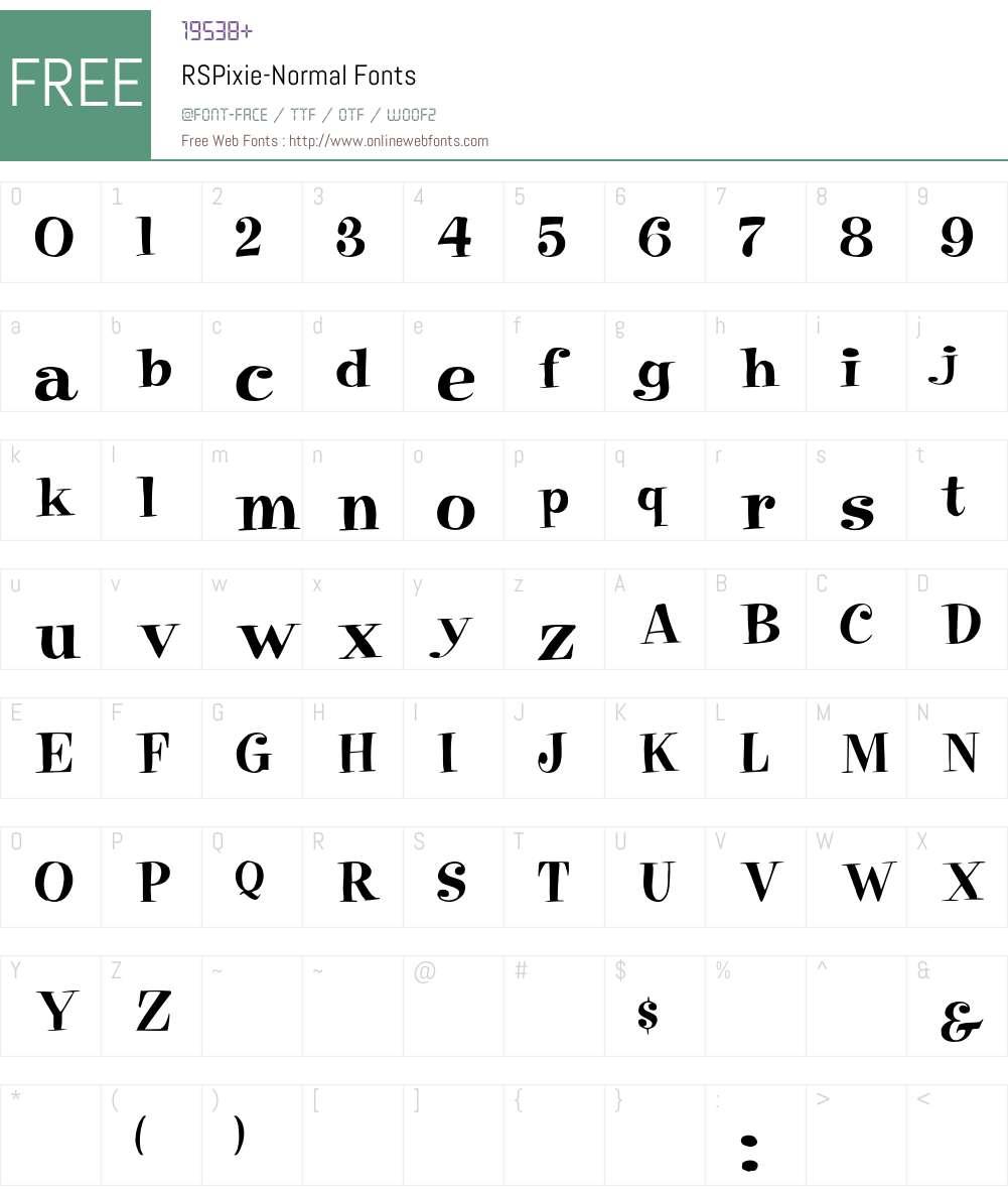 RSPixie-Normal Font Screenshots