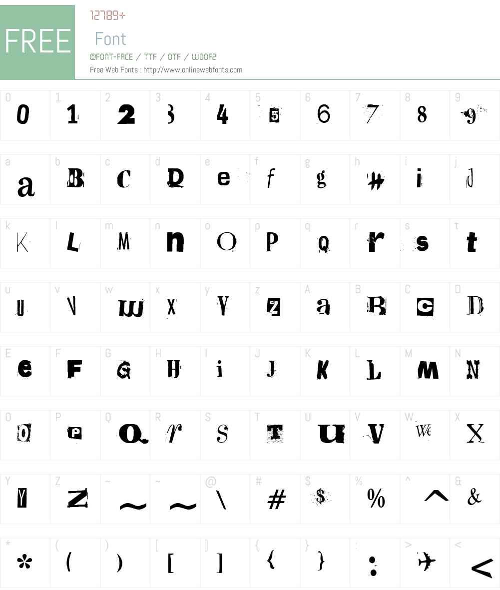 F2FEntebbeLTW90 Font Screenshots