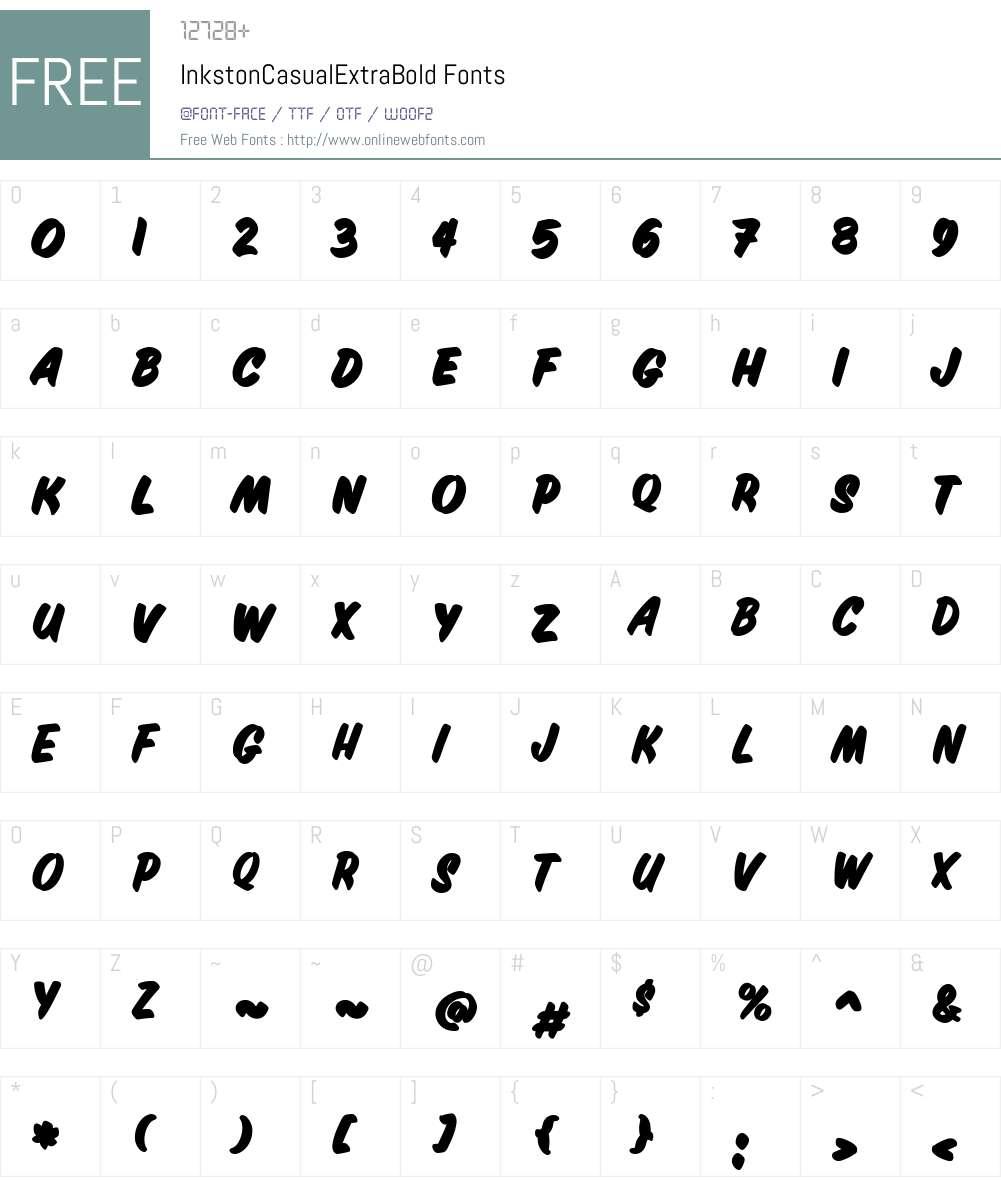 InkstonCasualExtraBold Font Screenshots