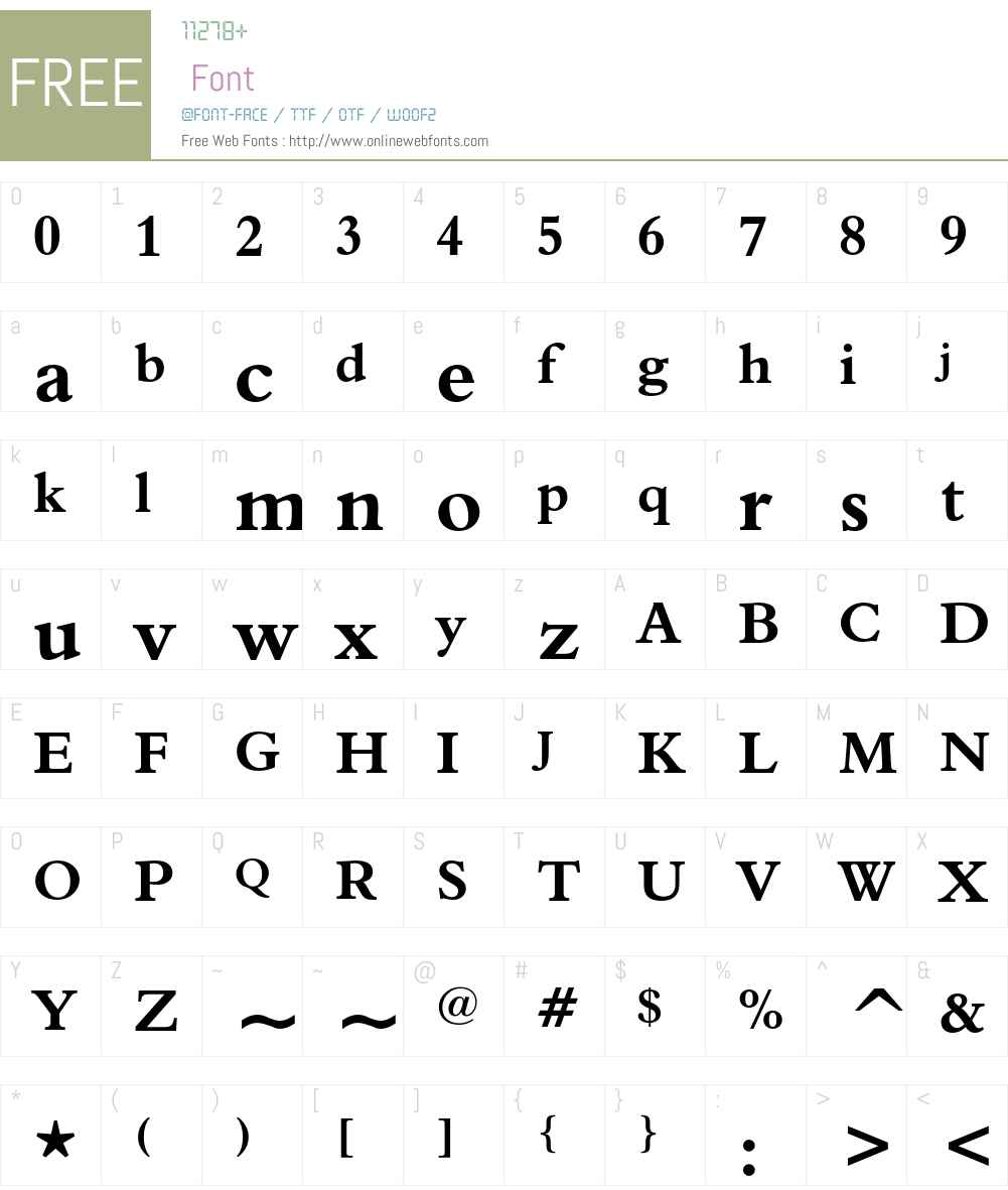 Aldine 401 Font Screenshots