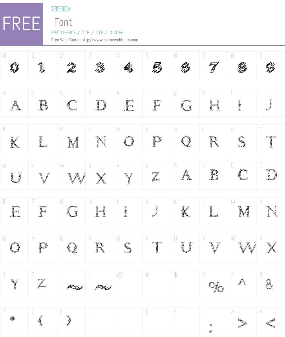 Daemonesque Font Screenshots
