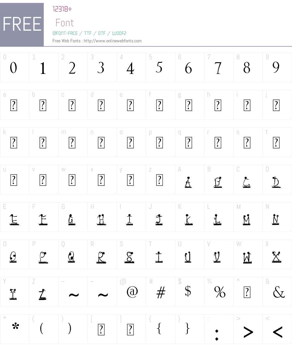 expressions Font Screenshots