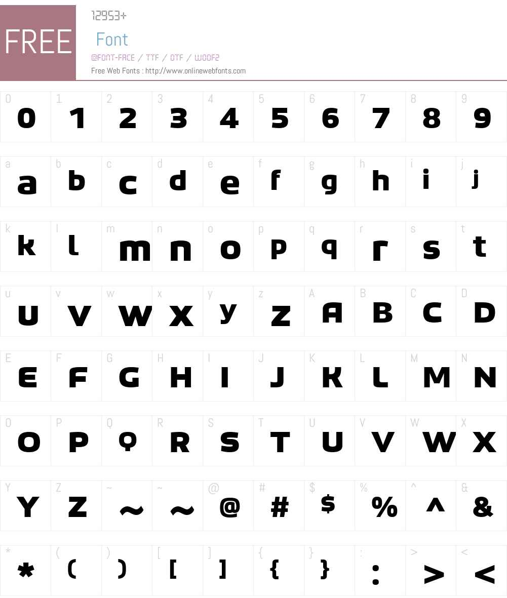 Bruum FY Font Screenshots