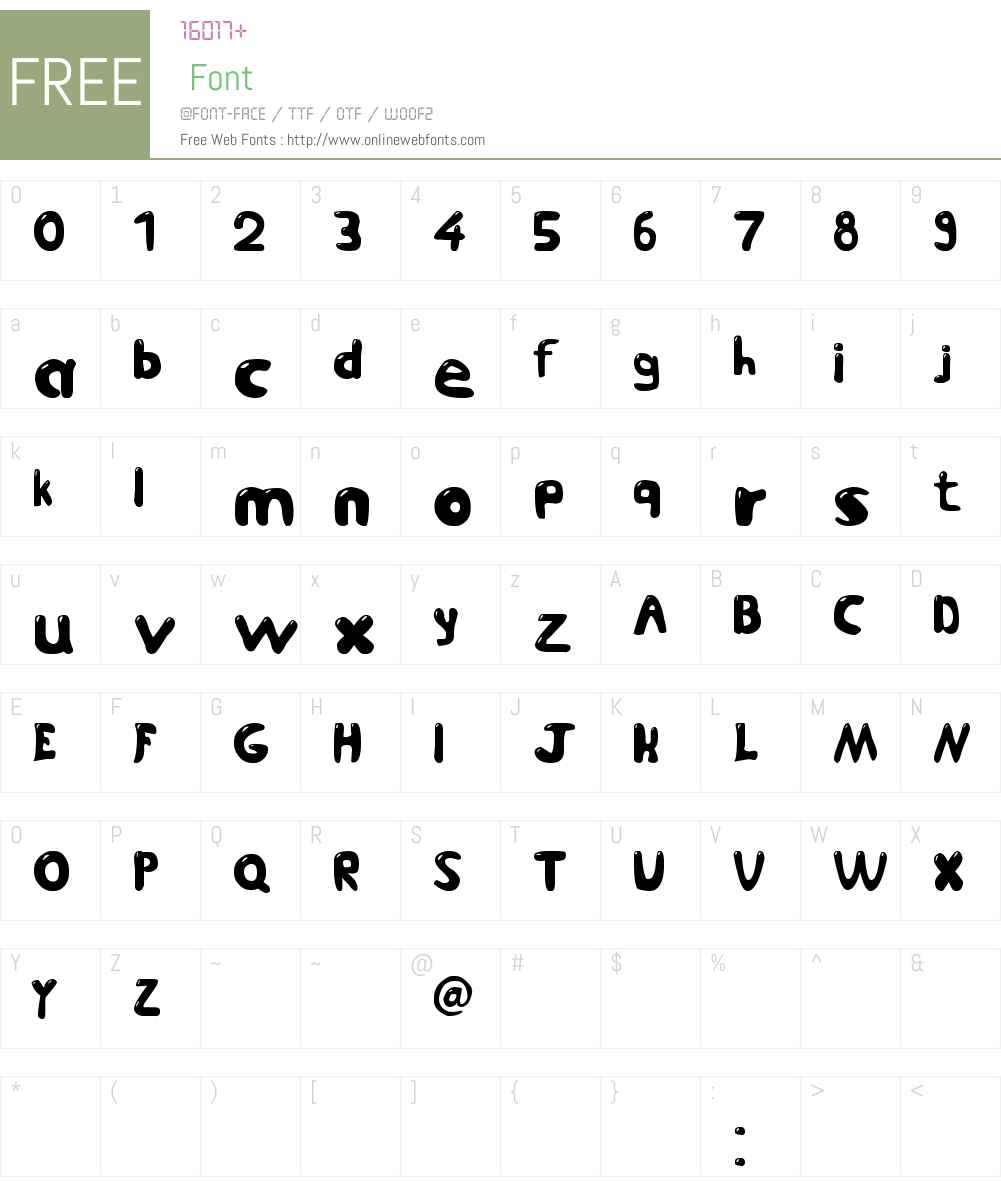 Jetmix Font Screenshots
