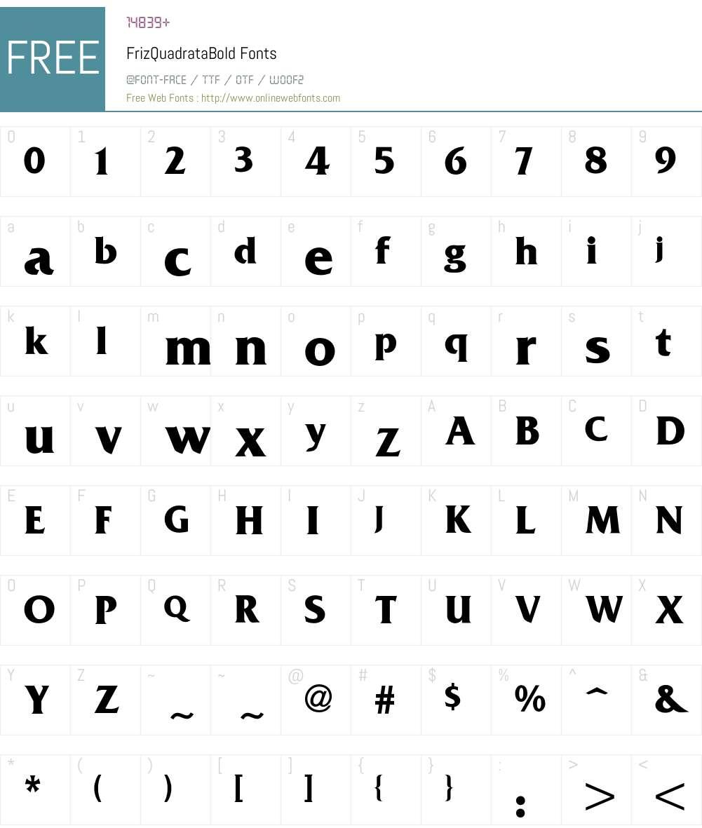 Friz Font Screenshots