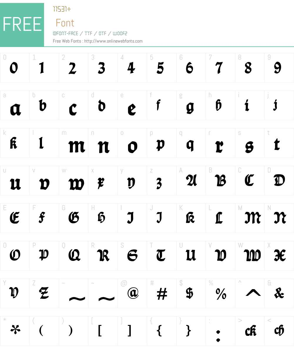Ballade Font Screenshots