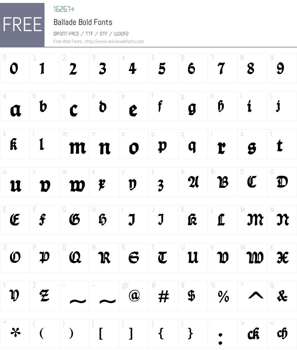Ballade Font Screenshots