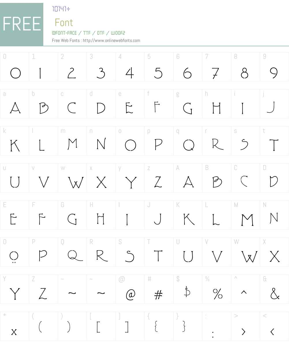 P22FLLWTerracotta Font Screenshots