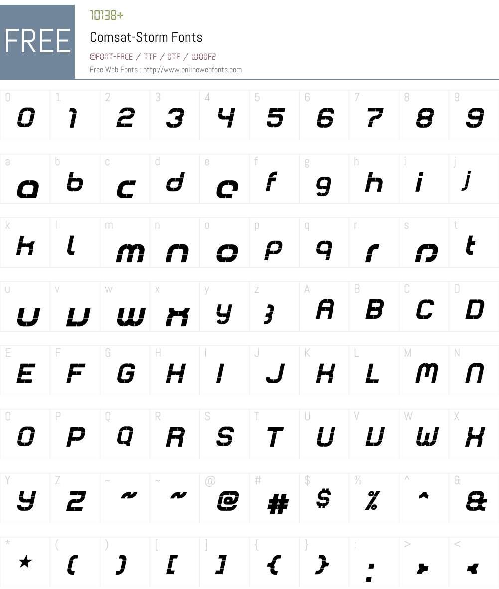 Comsat Font Screenshots