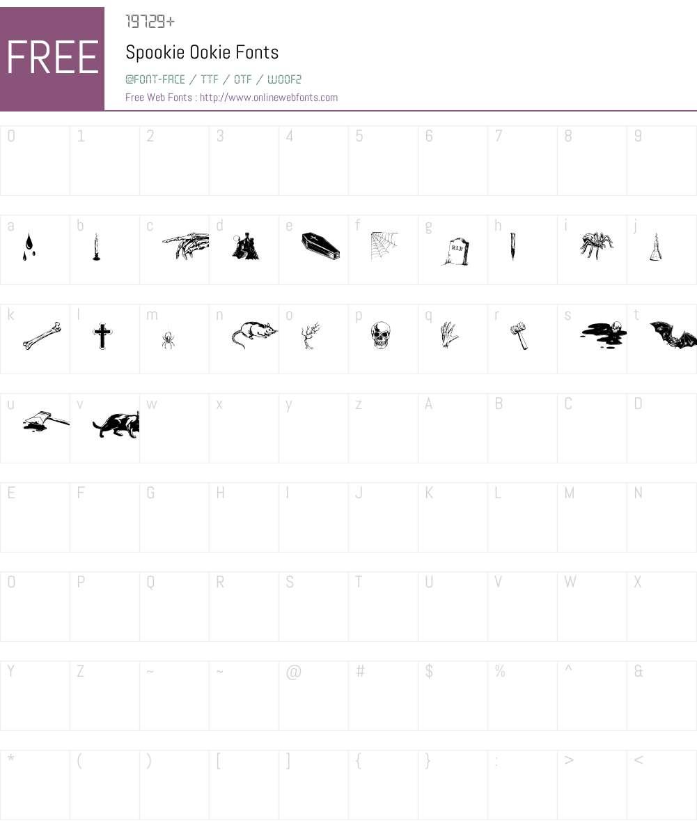 Spookie Ookie Font Screenshots