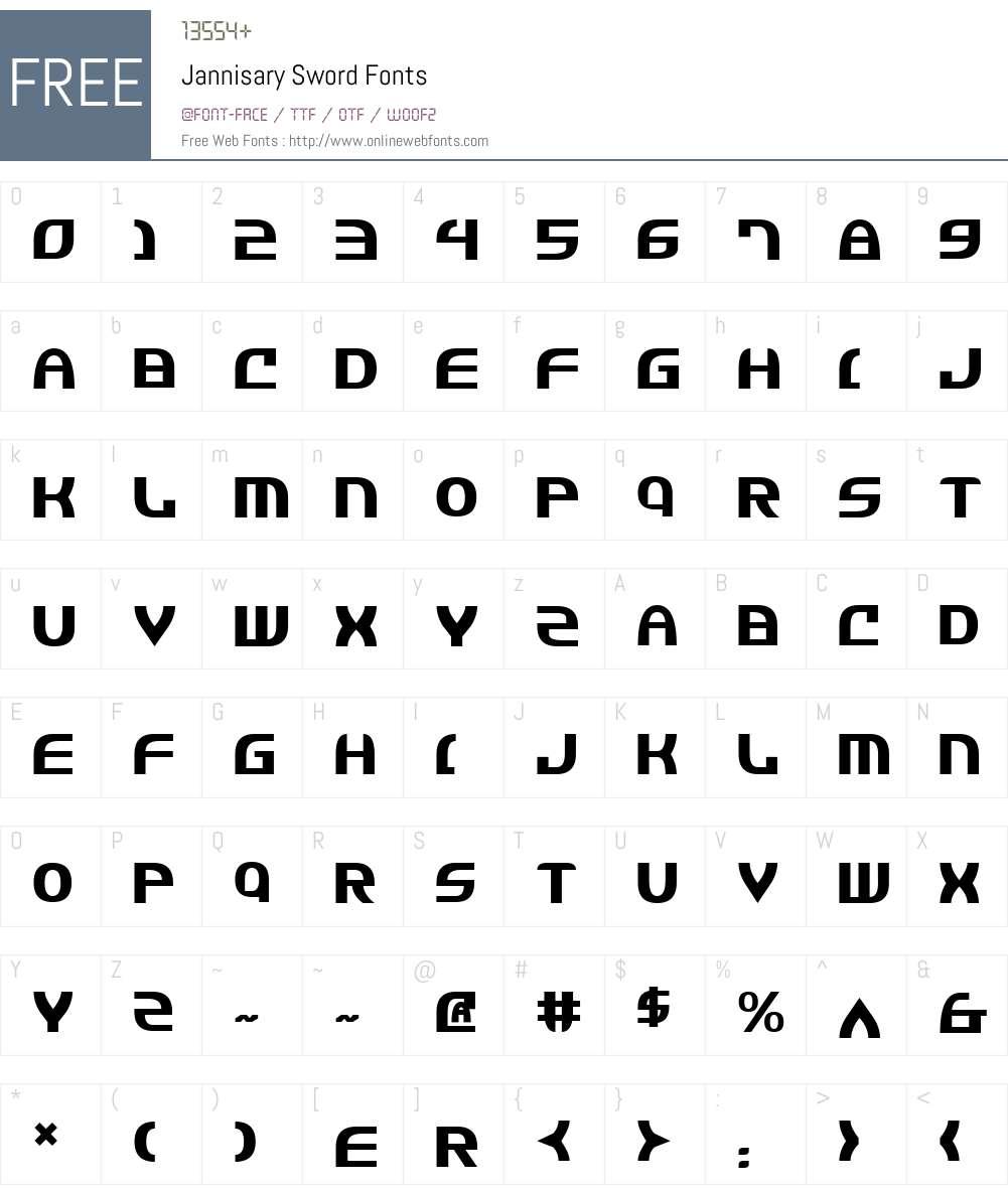 Jannisary Sword Font Screenshots
