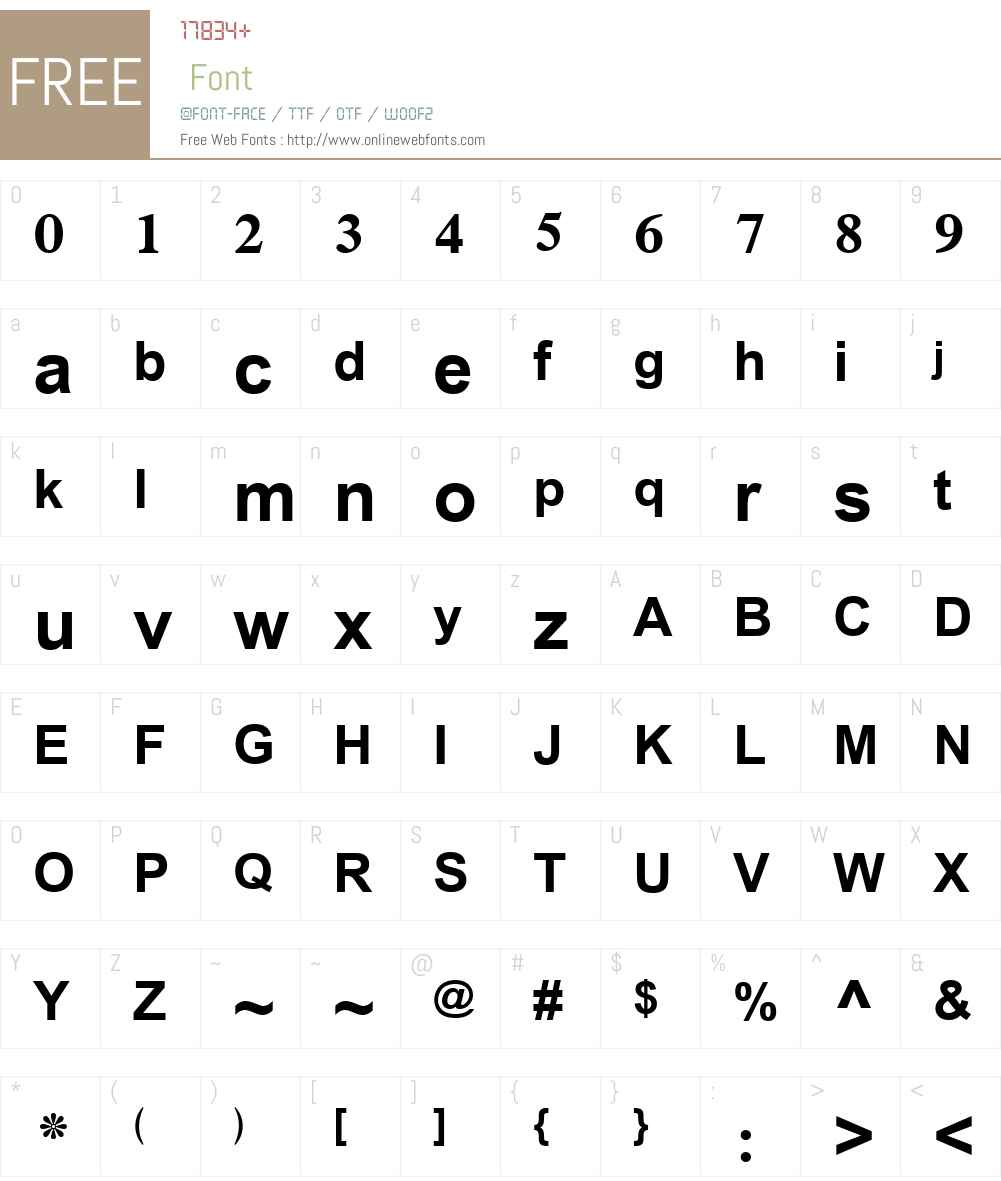 Simplified Arabic Font Screenshots