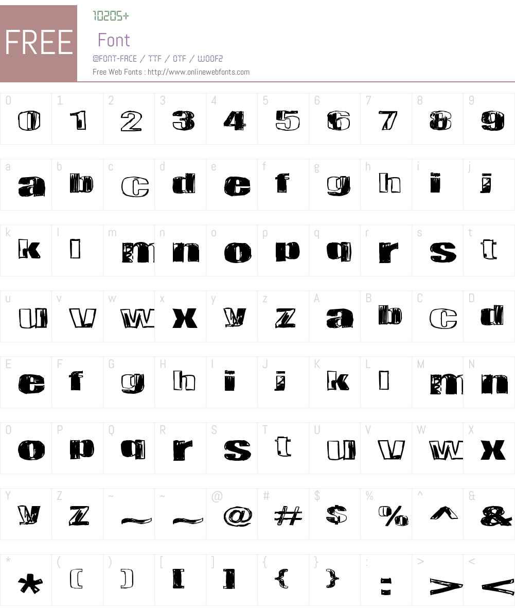 Tulihuuma Font Screenshots