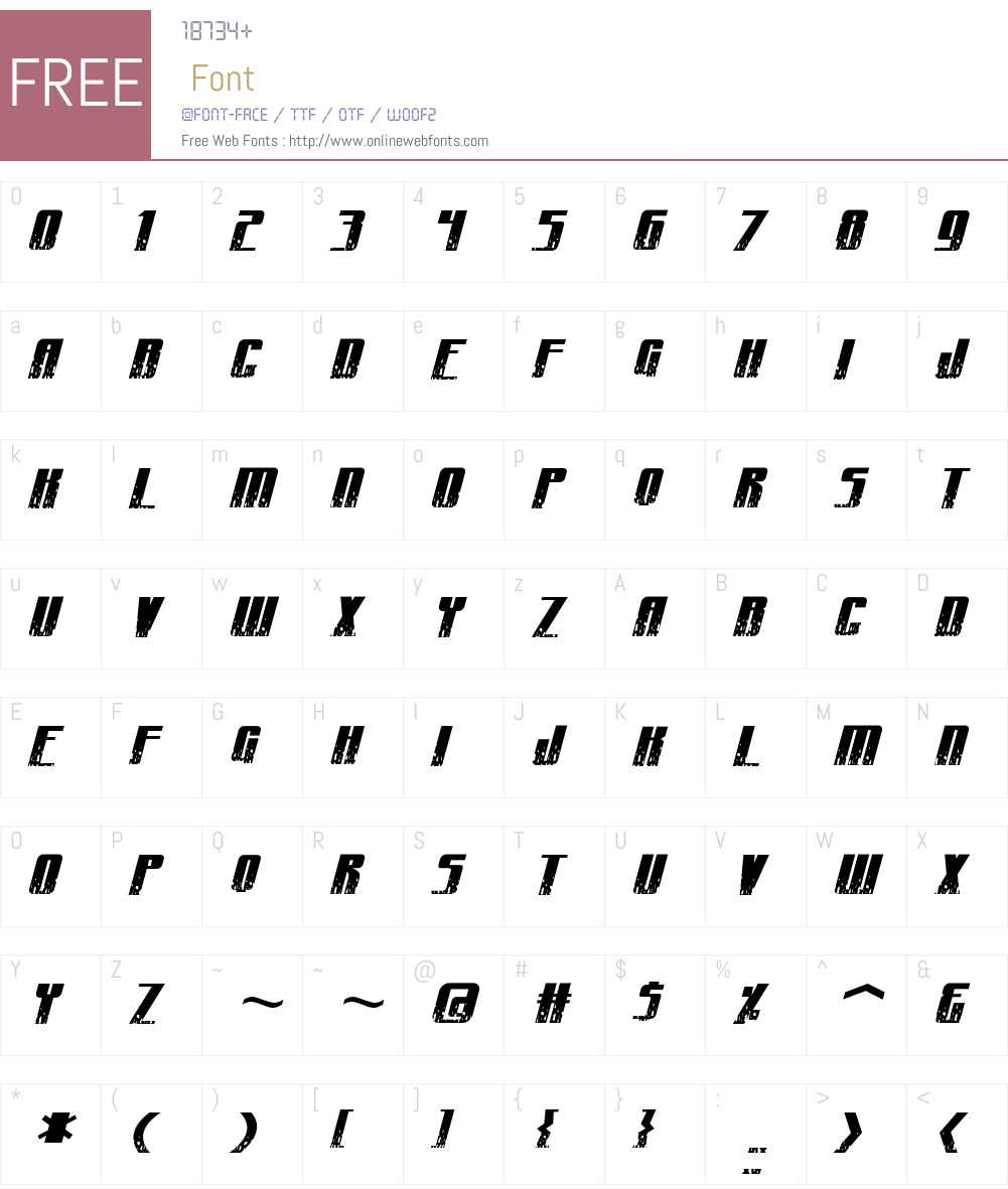 CraterFace Shrapnel BB Font Screenshots