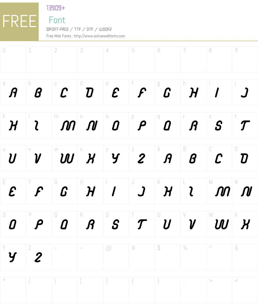 electronic Font Screenshots