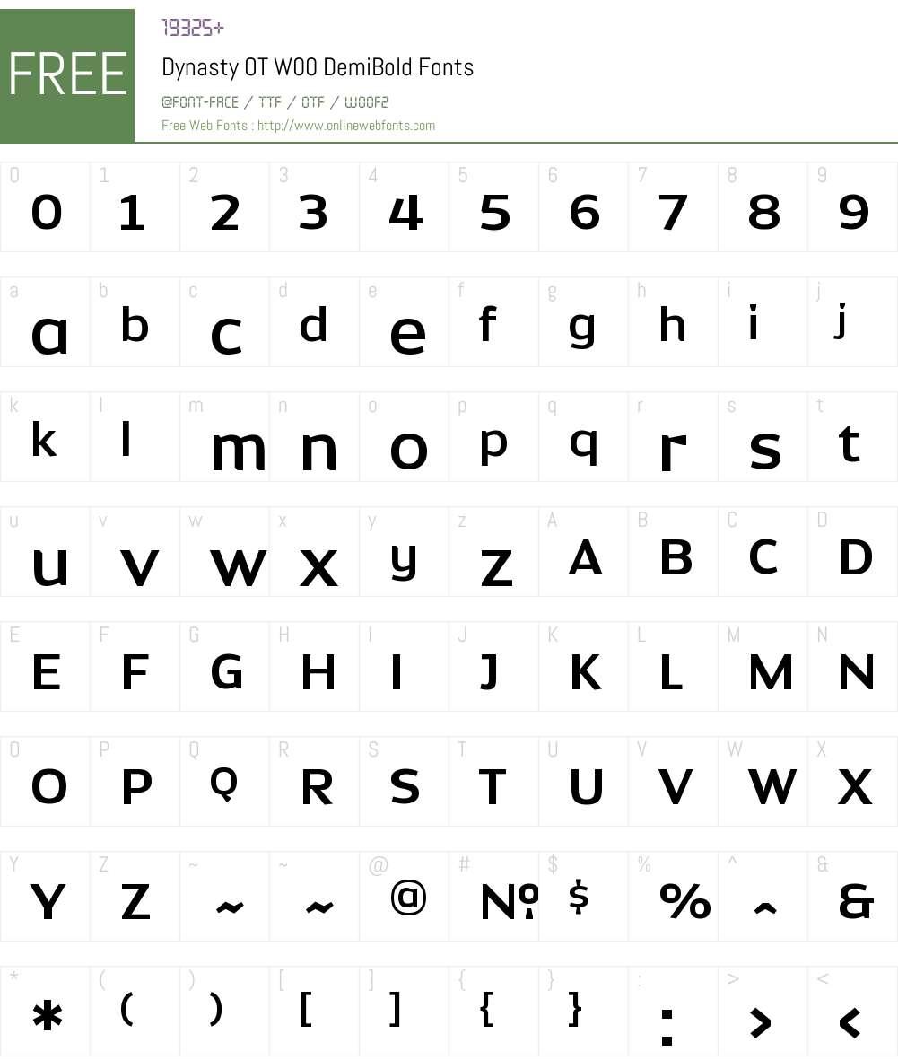 DynastyOTW00-DemiBold Font Screenshots