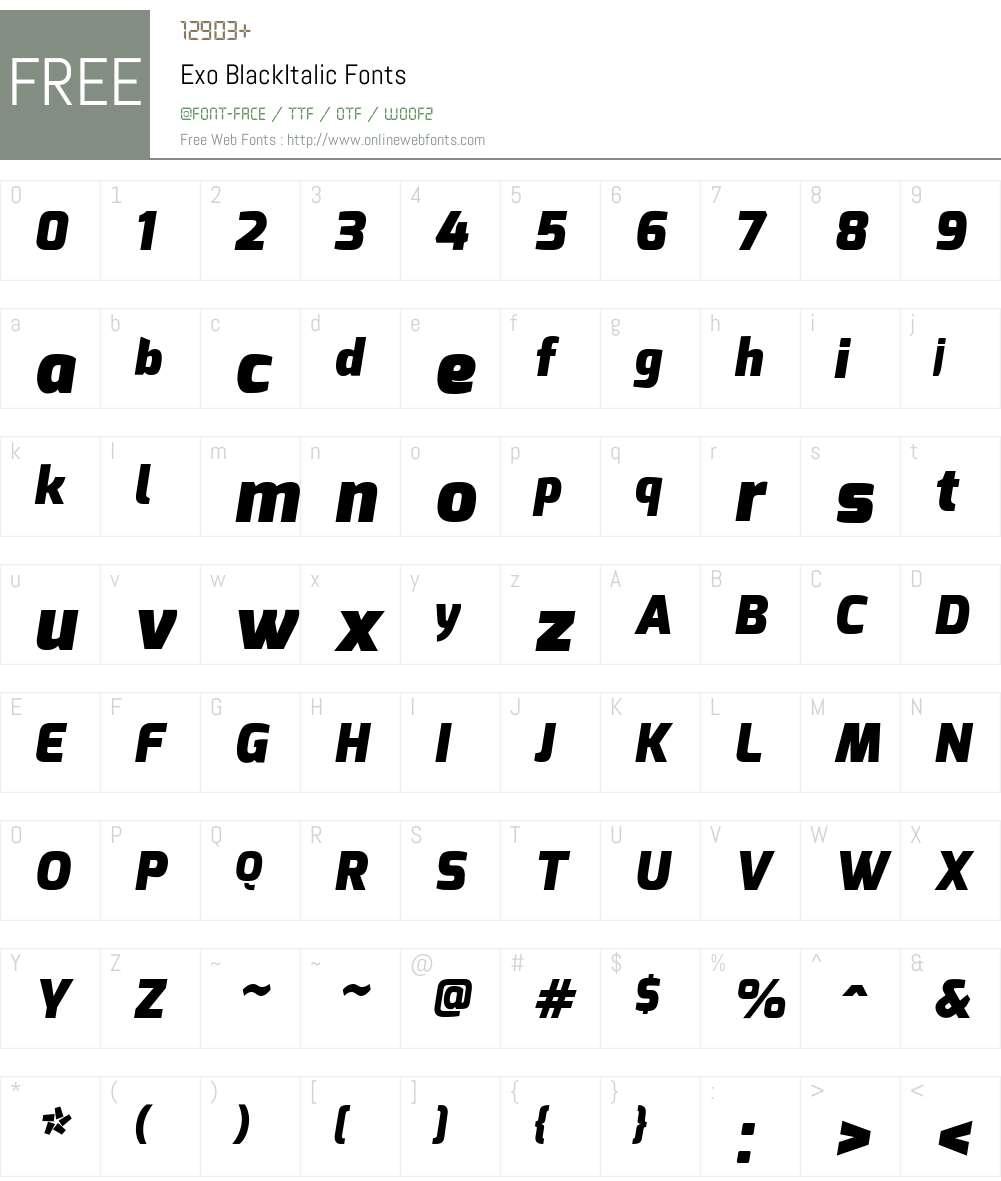 Exo Font Screenshots