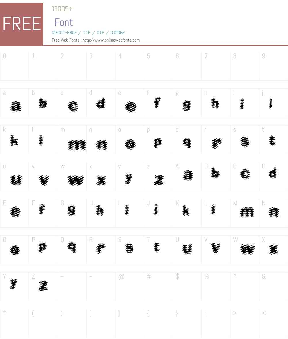 Diager Font Screenshots