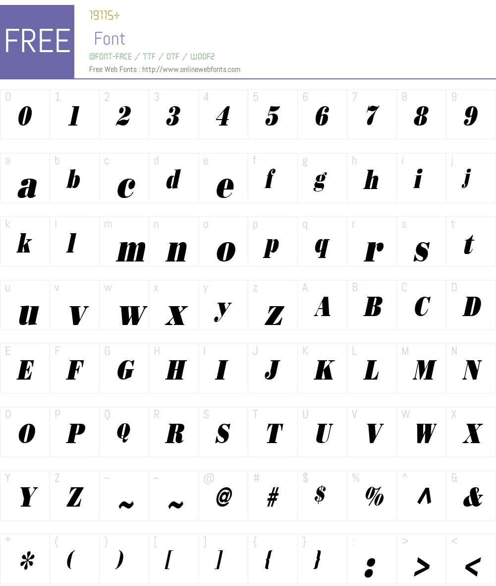 Beau Condensed Font Screenshots