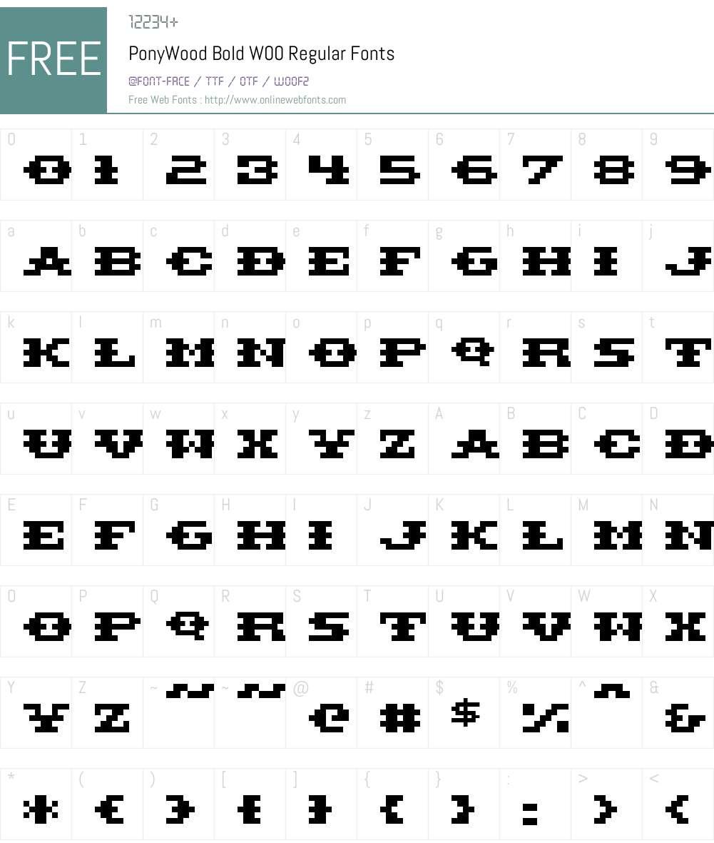 Pony Font Screenshots