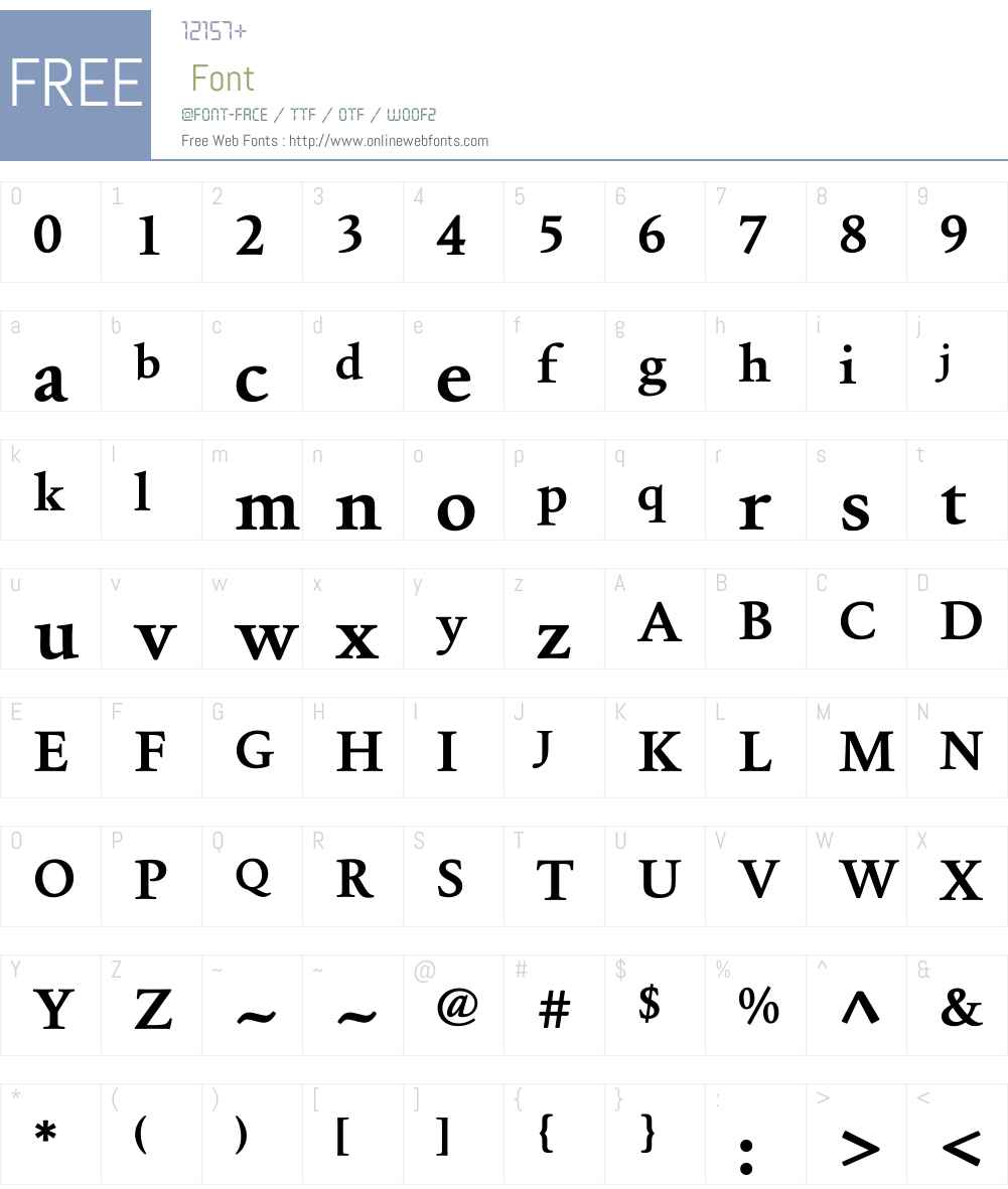 Foundry Old Style Font Screenshots