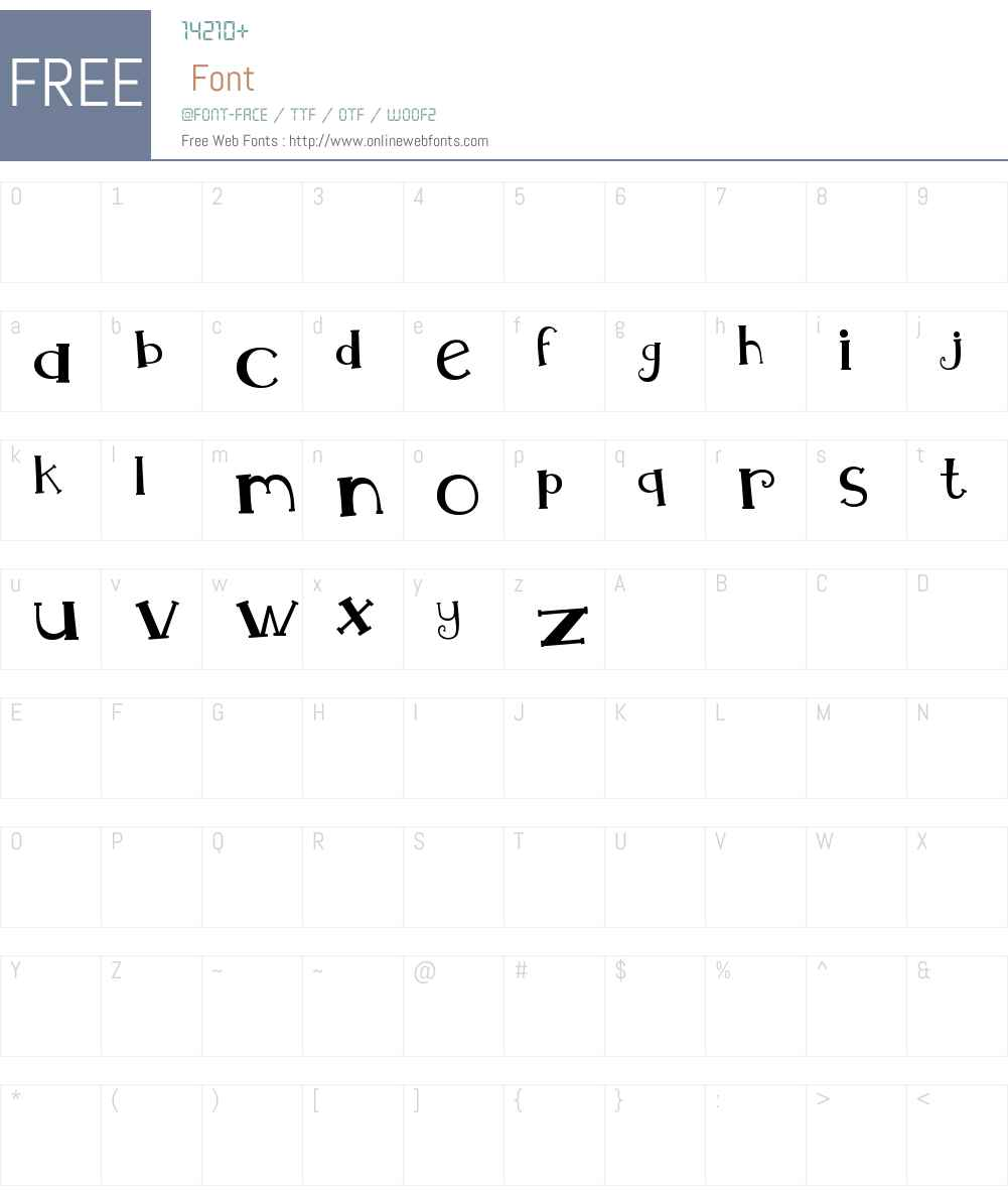MTF Whimsy Font Screenshots