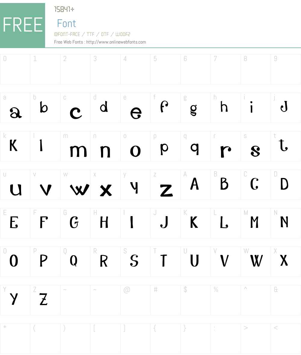 Adelfy_free-version Font Screenshots