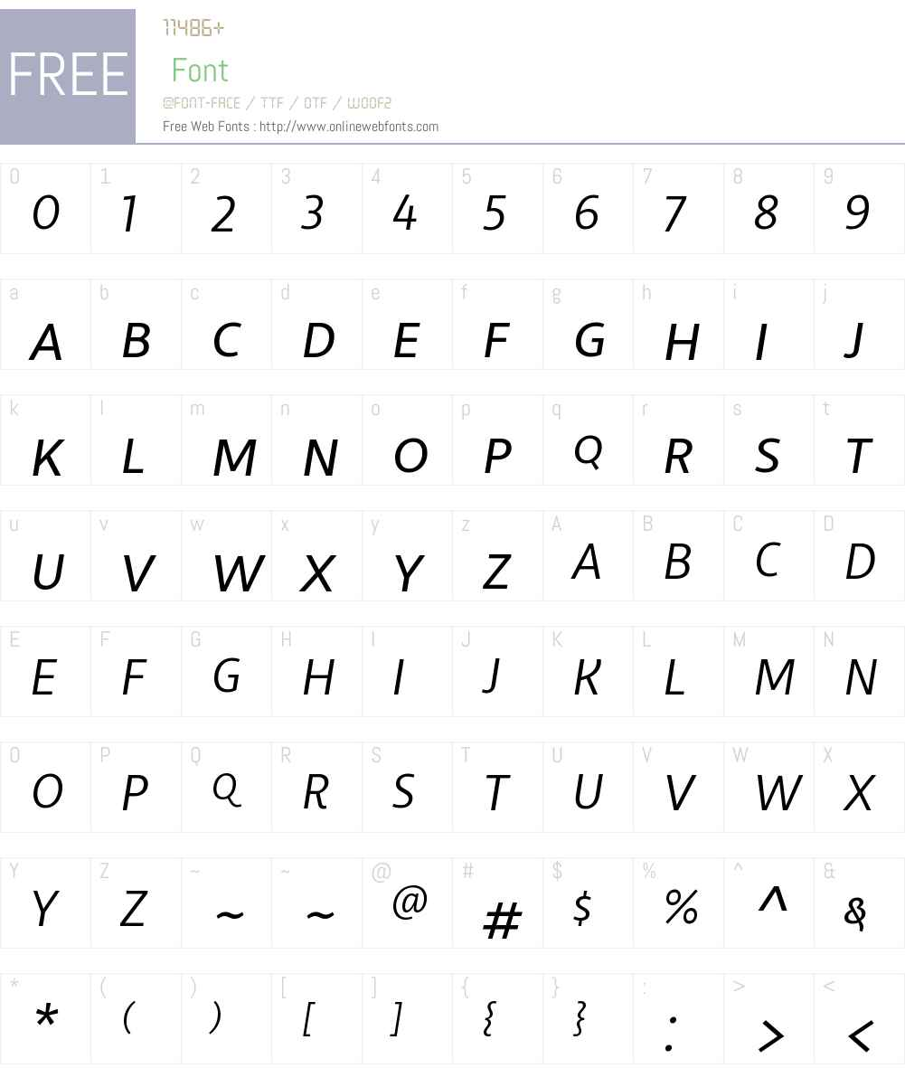 LibertadW00SC-BookItalic Font Screenshots