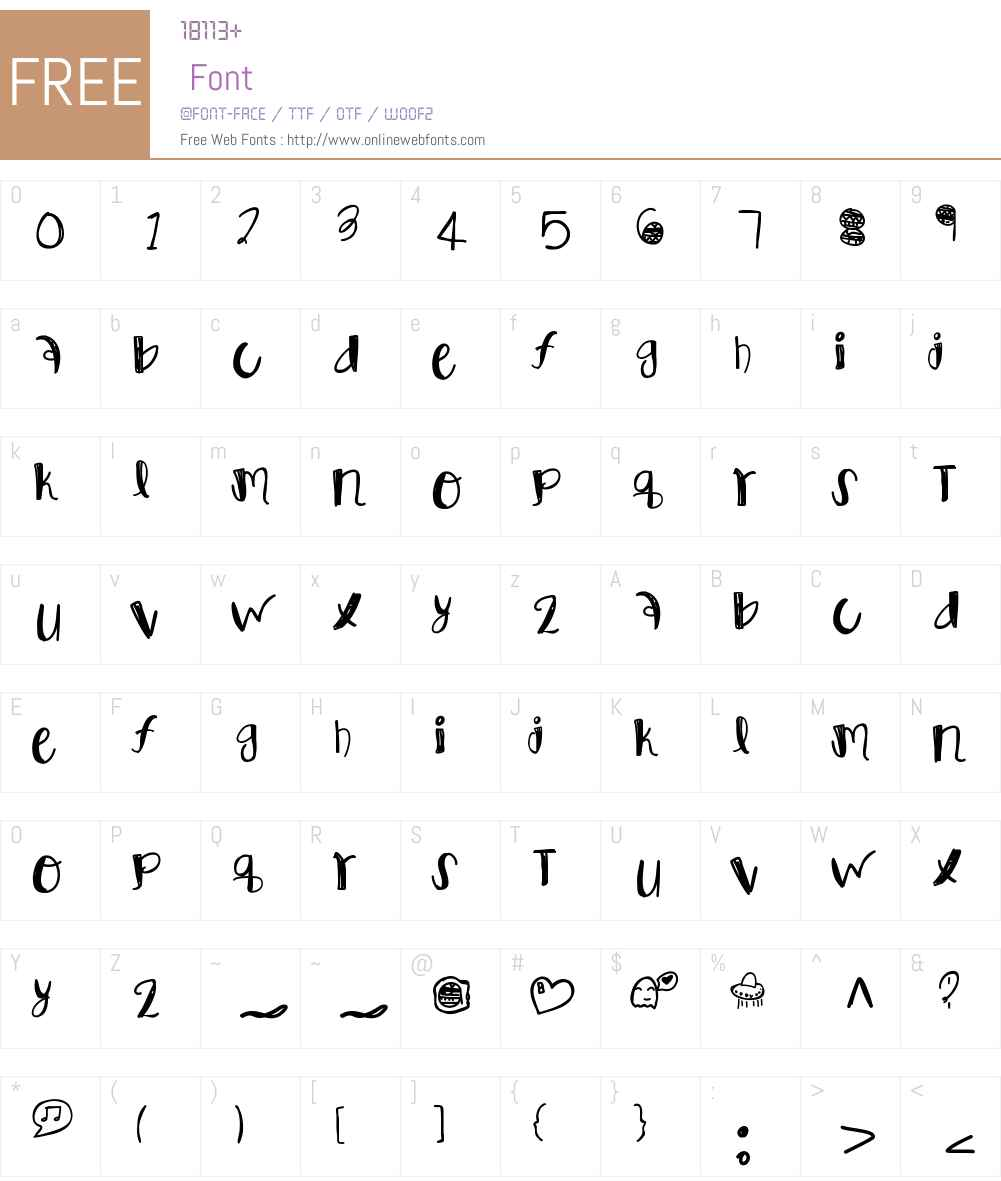 VanitySlave Font Screenshots