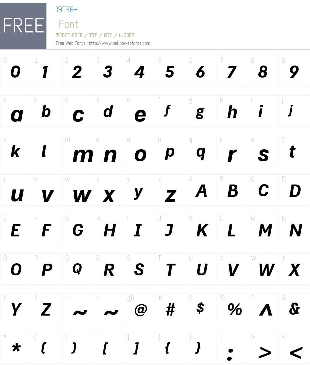DoctrineW00-BoldItalic Font Screenshots