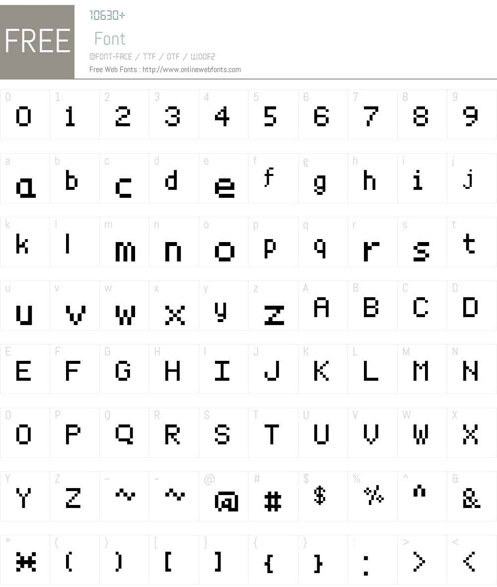 Sample Font Screenshots
