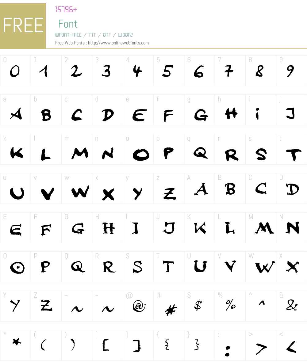 johnFsebastian Lettering Font Screenshots
