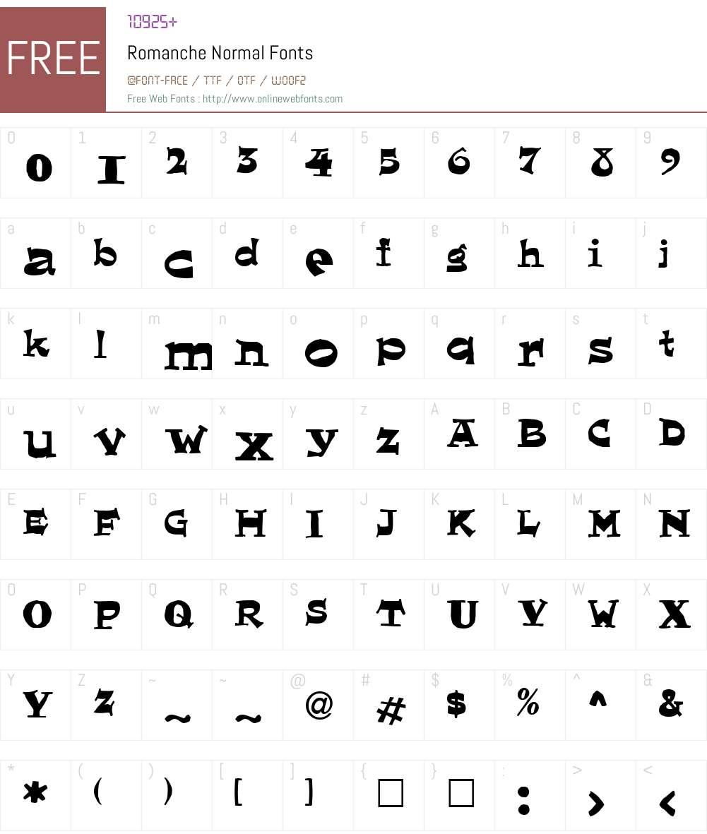 Romanche Font Screenshots