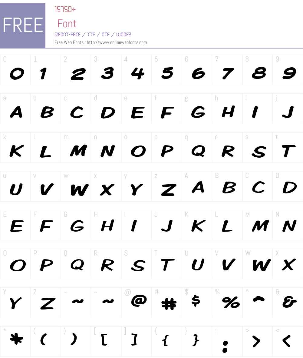 Komika Display Kaps Wide Font Screenshots