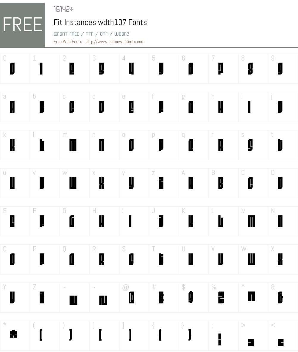 Fit Instances wdth107 Font Screenshots