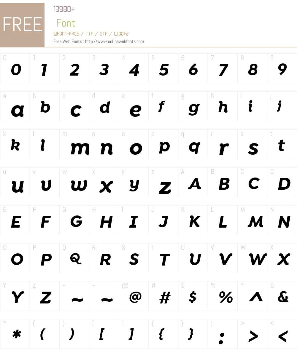 IsidoraAlt-BoldIt Font Screenshots