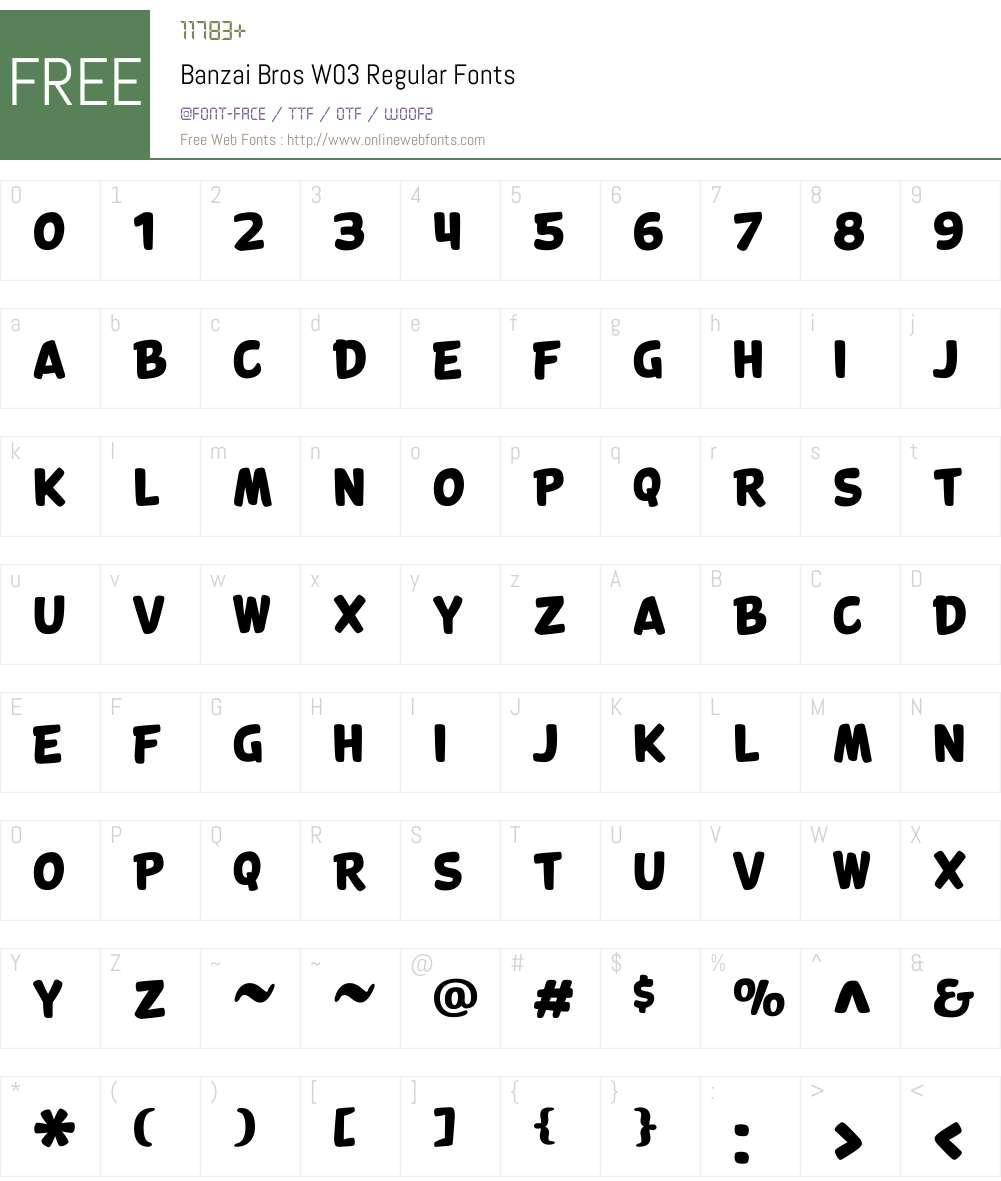 Banzai Font Screenshots