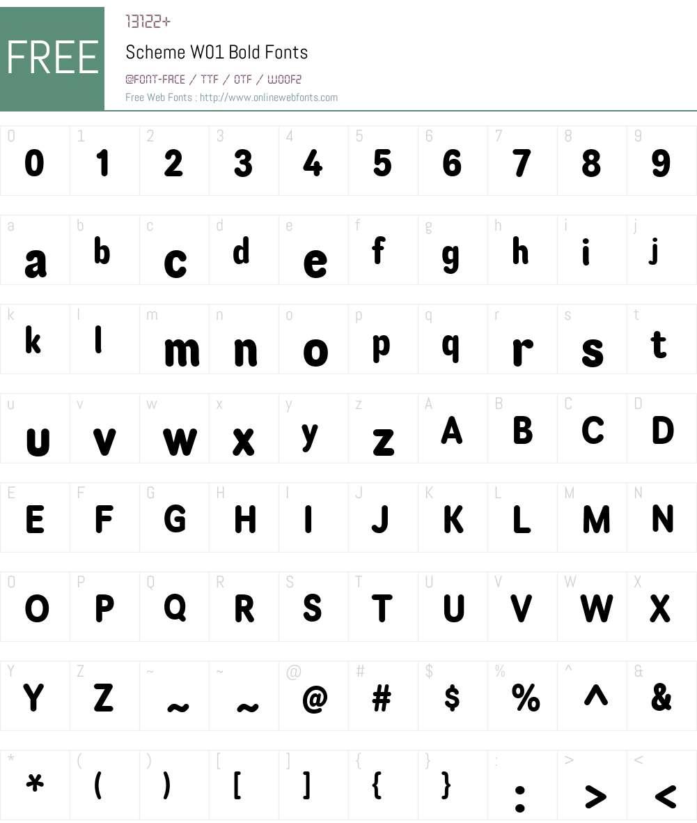 SchemeW01-Bold Font Screenshots