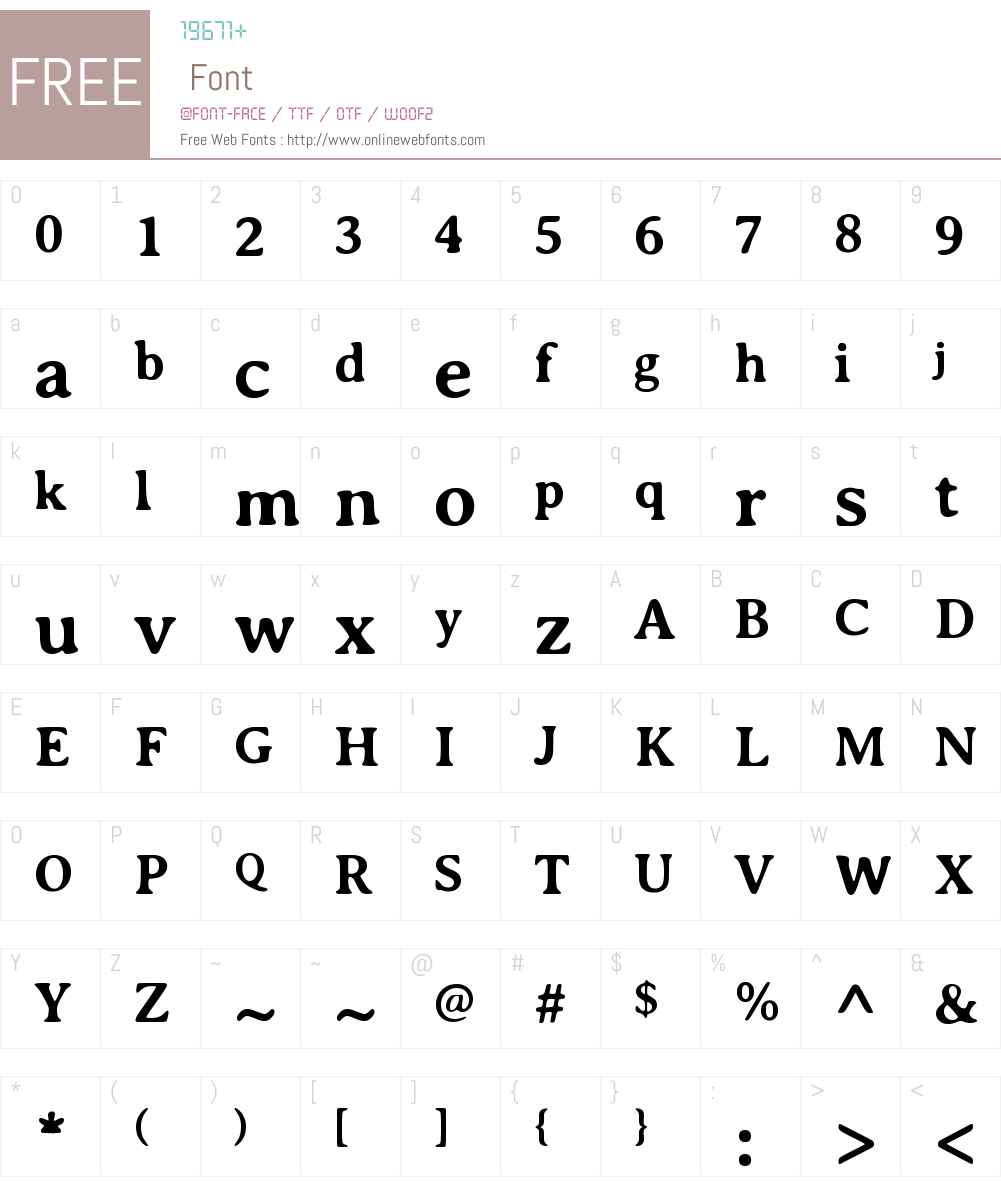 Averia Serif Font Screenshots