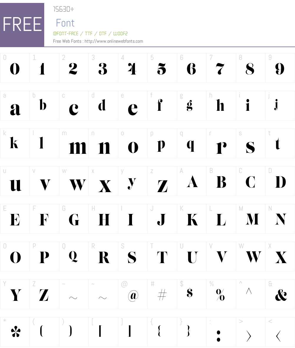 Lust Slim Regular Font Screenshots