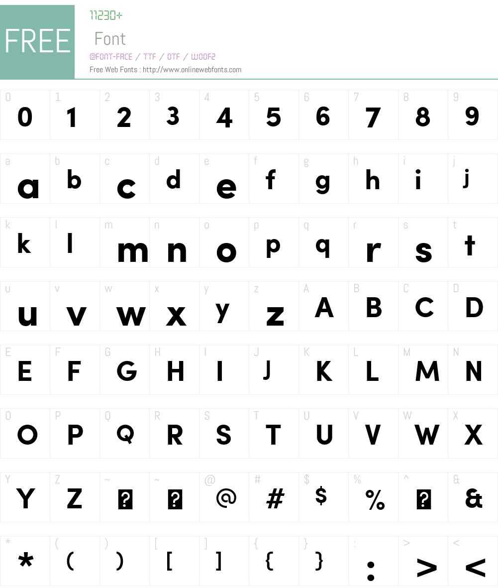 SofiaW01-Bold Font Screenshots
