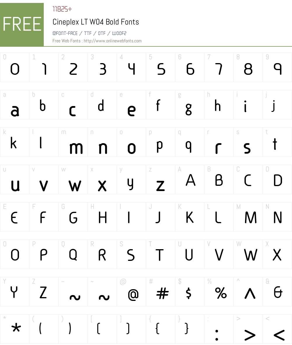 Linotype Cineplex Font Screenshots