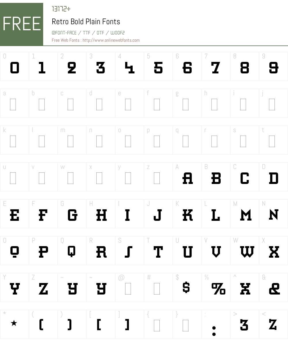 Retro Bold Font Screenshots