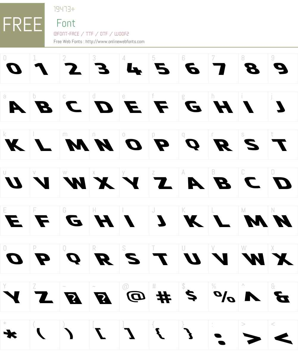 MetronicProWideW01-ReversoBlk Font Screenshots