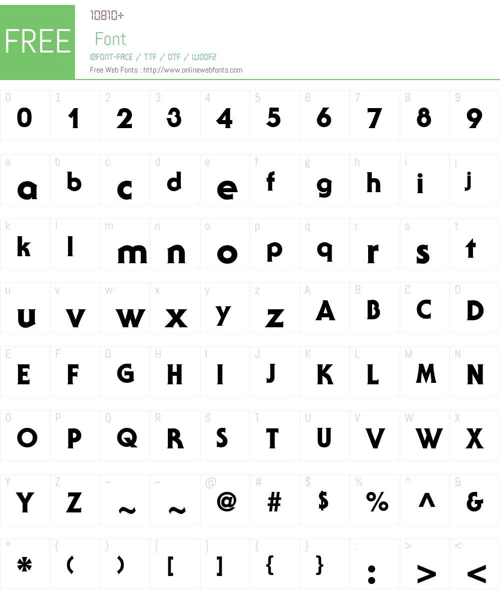 Staid Gothic Heavy Font Screenshots