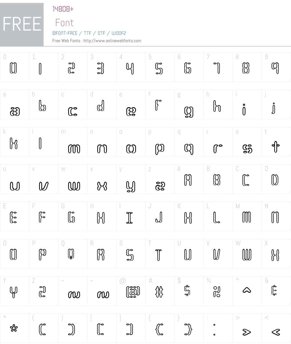 Compliant Confuse 3o BRK Font Screenshots