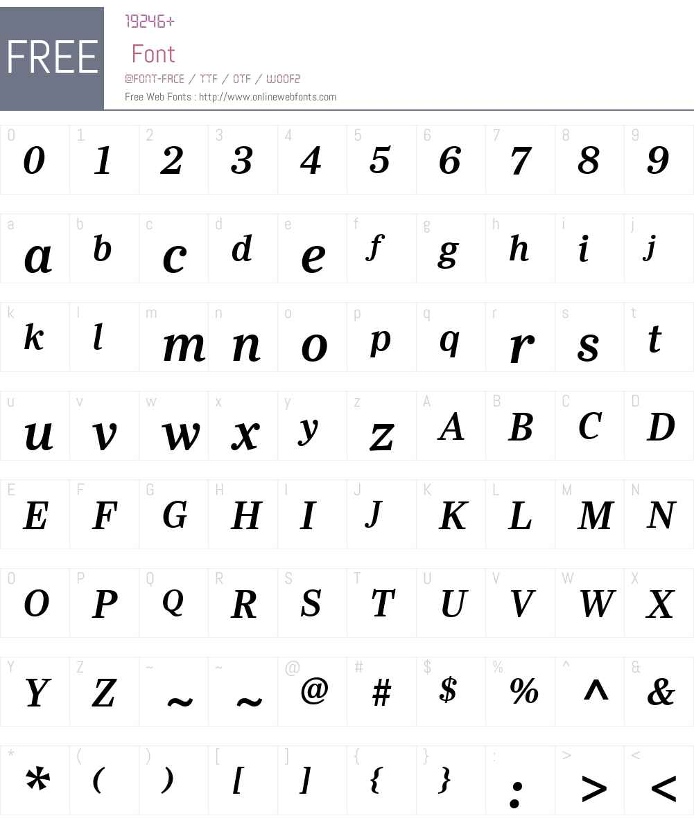 YsobelW01-SemiBoldItalic Font Screenshots