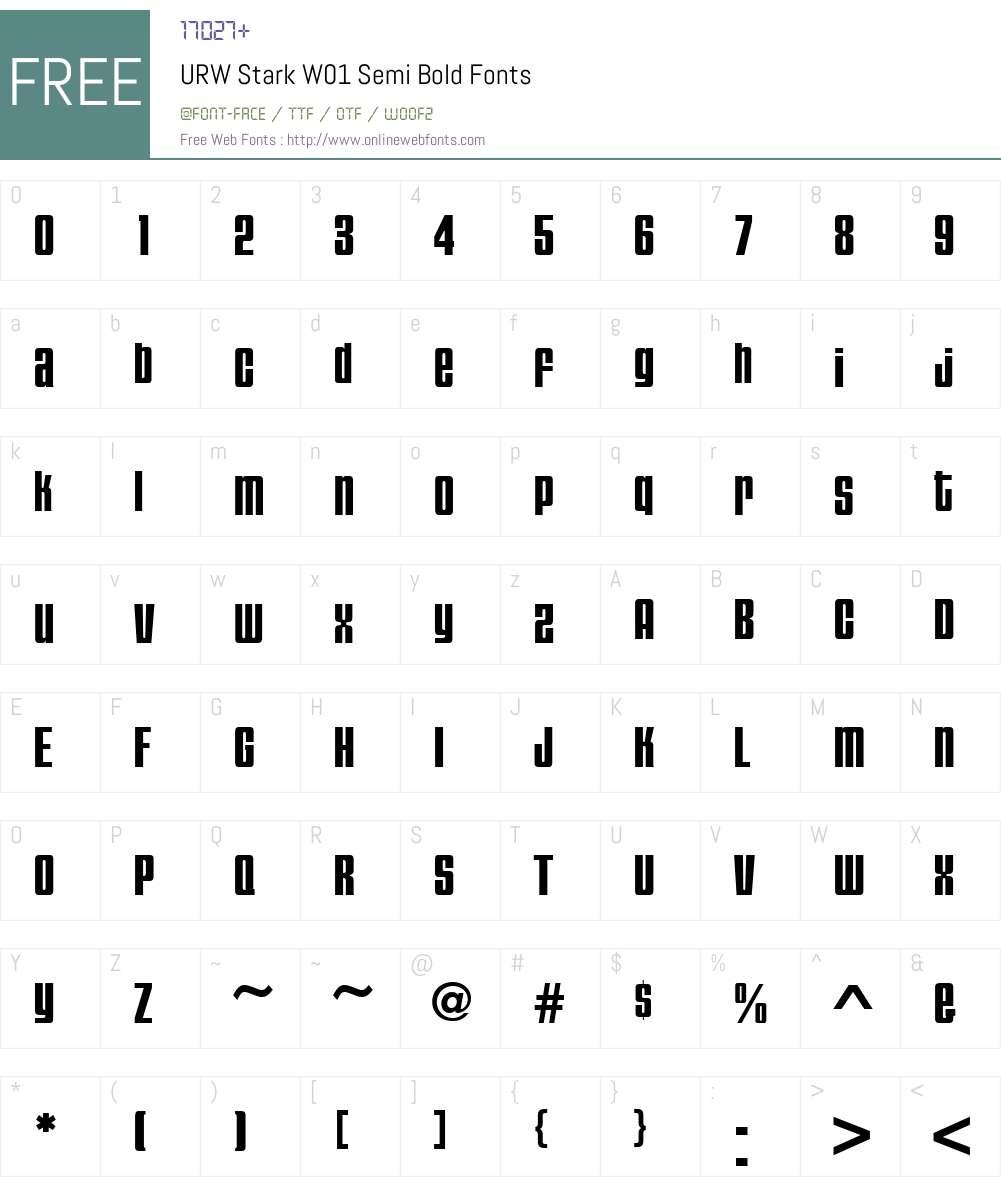 URWStarkW01-SemiBold Font Screenshots
