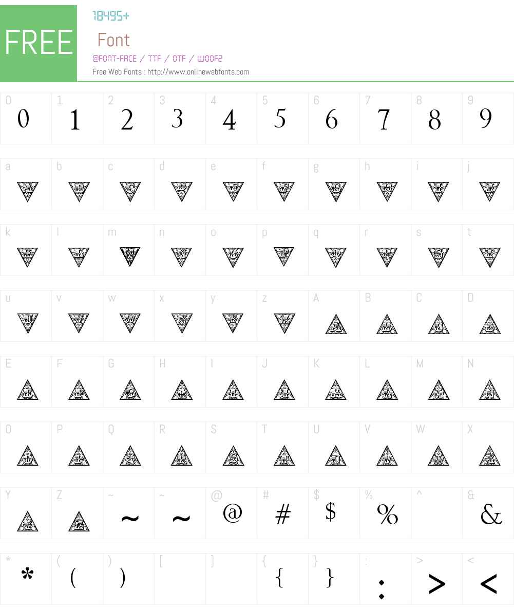 TriangularHD Font Screenshots